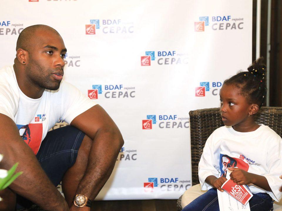 Partenariat gagnant entre Teddy Riner, Champion  Olympique, et la Caisse d'Epargne Cepac Antilles