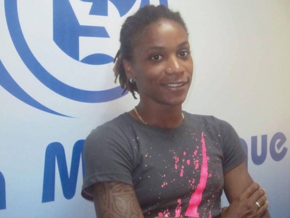 Elodie Thomis, attaquante équipe de France de football, 4e aux Jeux Olympiques de Londres