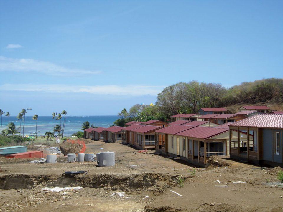 Le village de la pointe, le futur parc d'habitation légère de loisirs de la Martinique