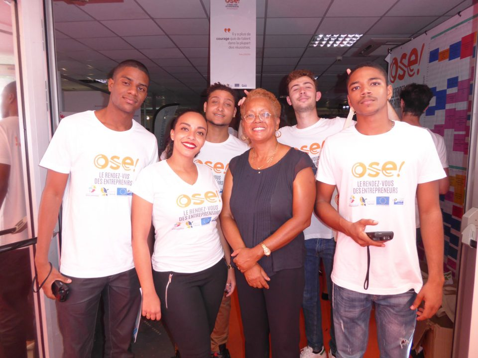 Les étudiants d'EGC Martinique au salon Ose avec Amazone Caraïbe !