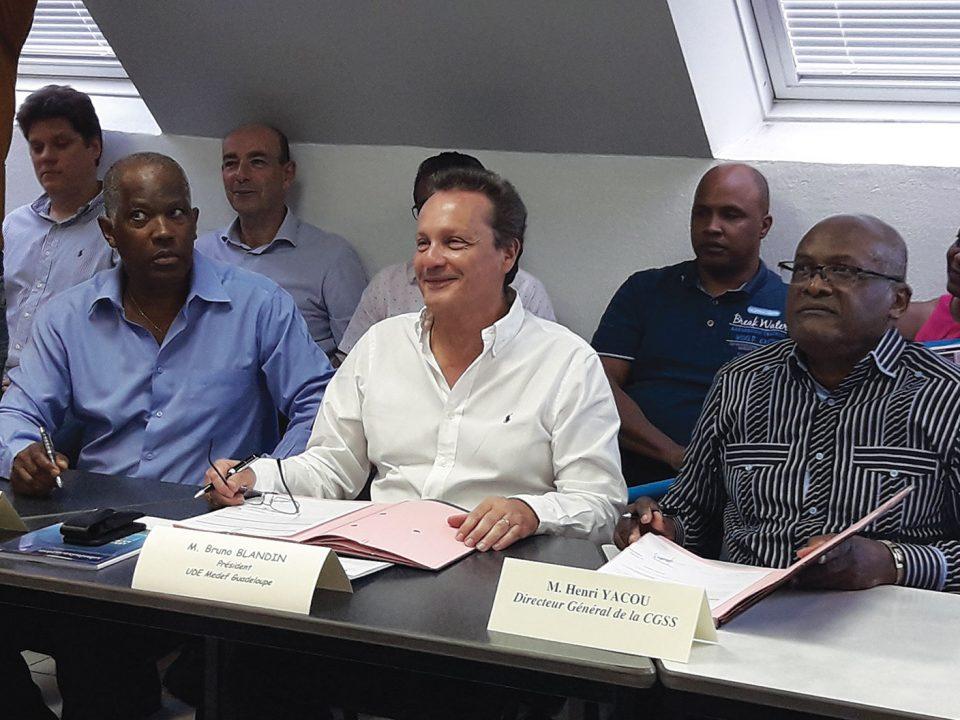 Accompagnement des entreprises : la CGSS Guadeloupe signe avec l'UDE-MEDEF