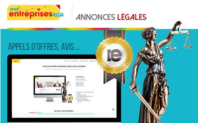 Interentreprises.com/annonces-legales est en ligne !