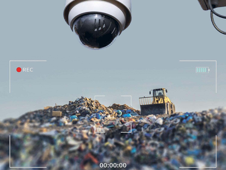 Vidéosurveillance du déchargement des déchets