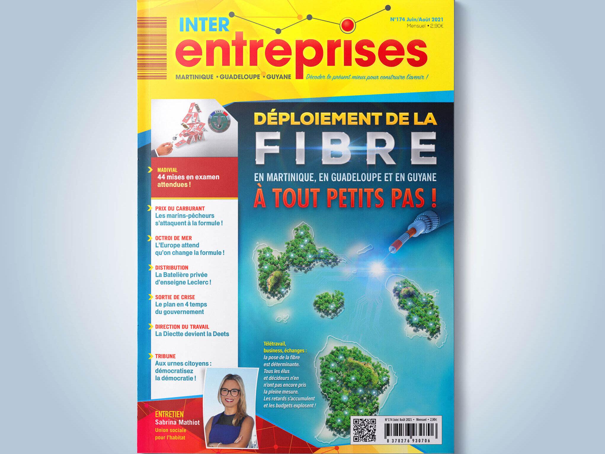 Déploiement de la fibre en Martinique, en Guadeloupe et en Guyane à tout petits pas !